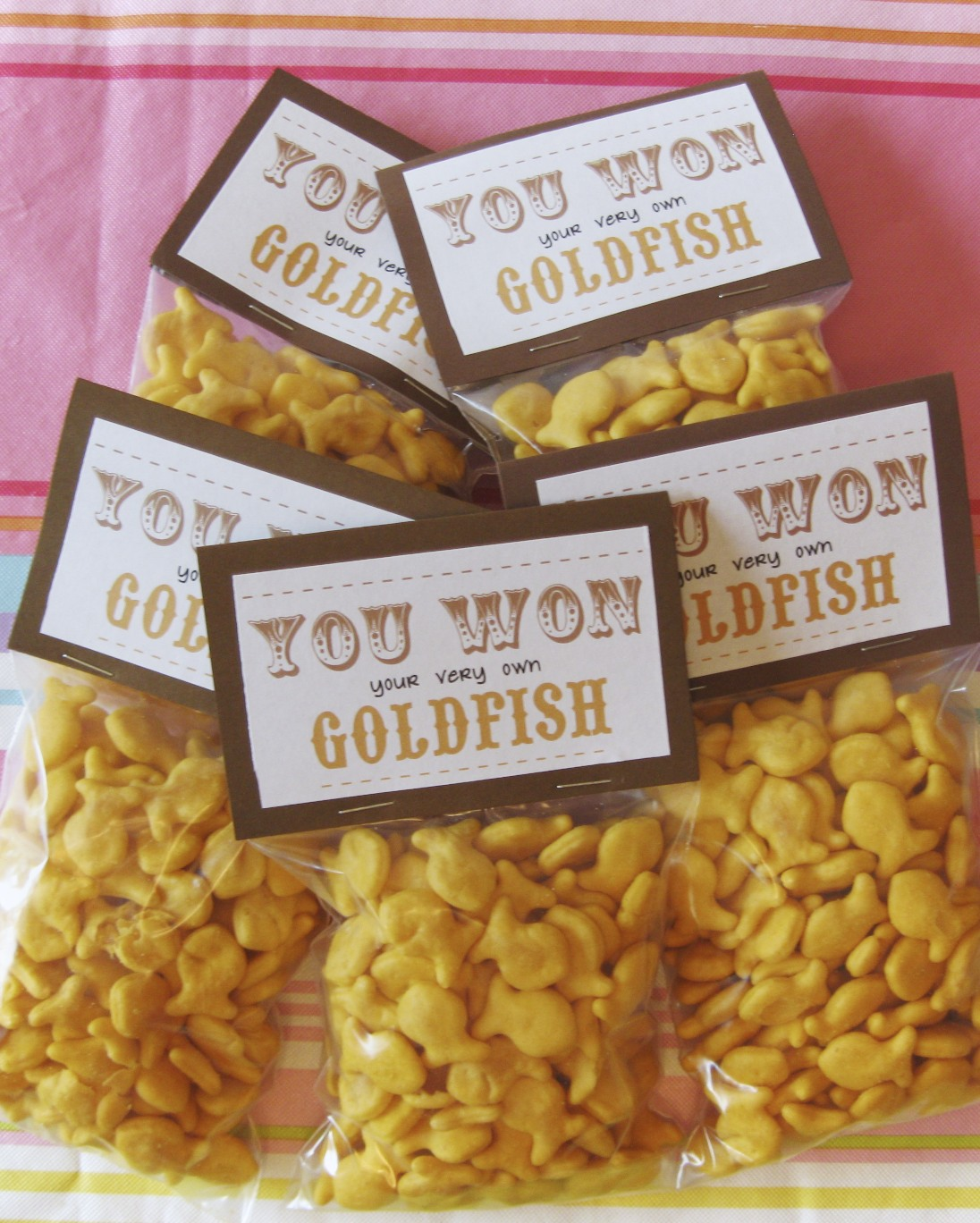 Cygneture creations parties for Gold fish game