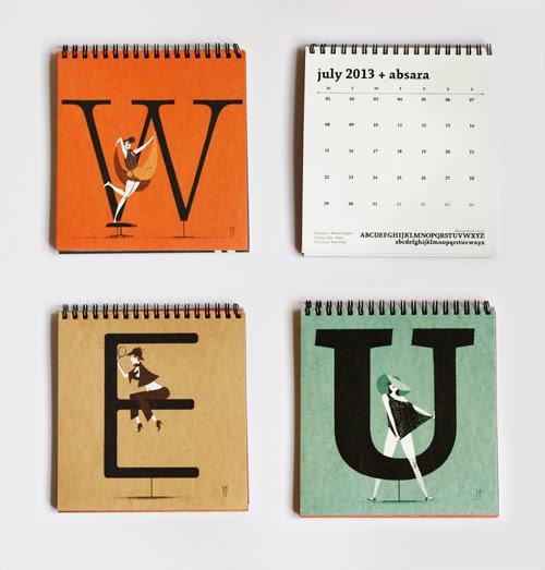 Typography Desk Calendar : Illustrated typography desk calendar how about orange