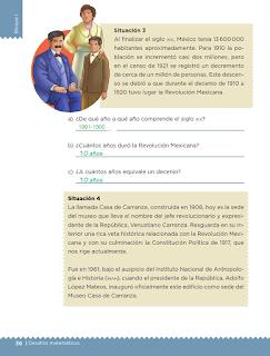 Respuestas Apoyo Primaria Desafíos matemáticos 5to grado Bloque I lección 14 Unidades y periodos