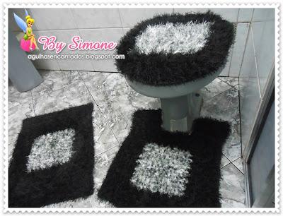 Jogo de banheiro Decore,jogo de banheiro crochê,crochê