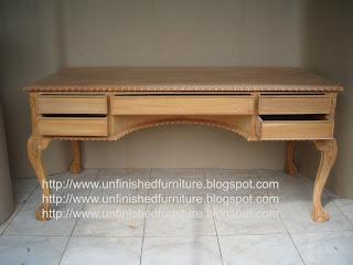 furniture klasik meja klasik meja tulis chippendale meja ukir klasik supplier mebel klasik jepara meja mentah unfinished mahoni