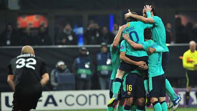 Milan Barcellona 2-3 video