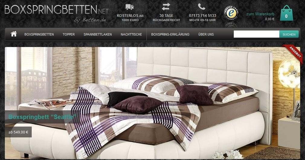 boxspringbetten von erdbeerchens testwelt. Black Bedroom Furniture Sets. Home Design Ideas