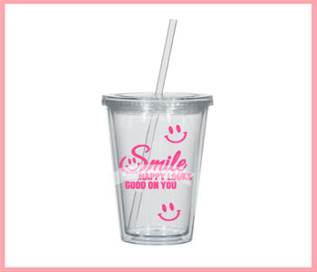 Smile Happy Looks Good Tumbler