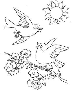 Desenhos Para Colorir brincando na casa da arvore na primavera junto com borboletas