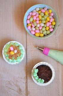 Fromage ou Dessert ? Dessert !!! décoration cupcakes de Pâques