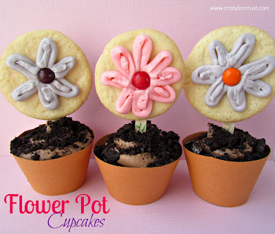 cookies on sticks decorated like flowers with cupcake liners to look like pots