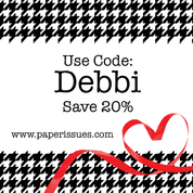 Please use my code and save 20% at Paper Issues!