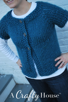 ABC Knitting Patterns - Ribbed Round Yoke Short-Sleeve