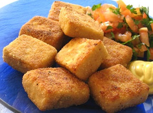 Mini Tofu Empanado (vegana)