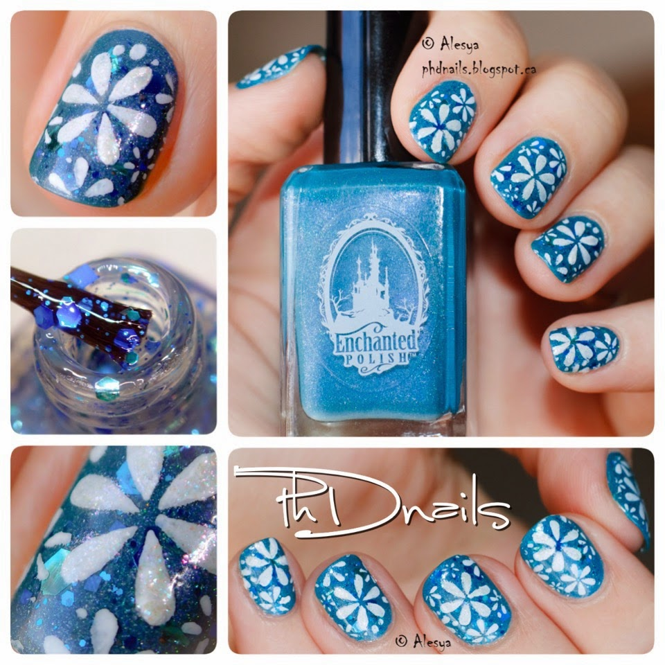 Phd Nails Spring Flowers Nail Art With Lala Land By Enchanted