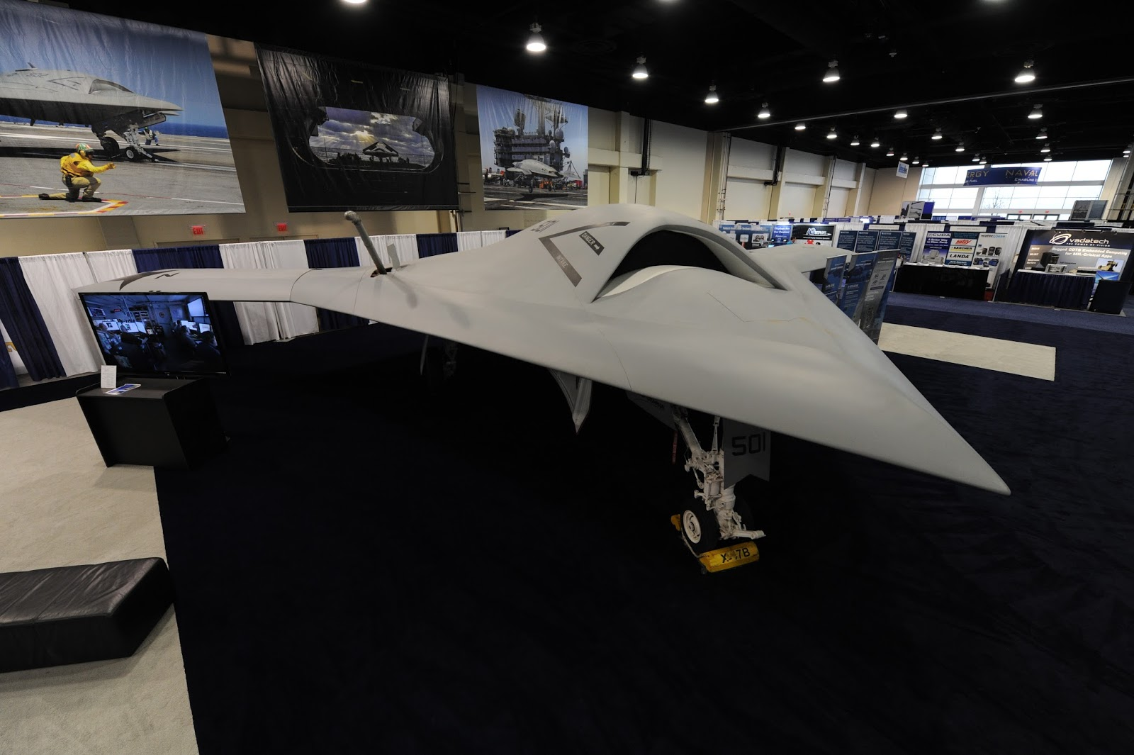 Of all the photographs of the Navy's X-47B from the exposition, mine was the only one mine was the only one I saw taken from above.