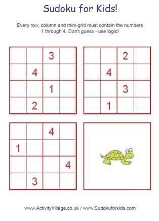 sudoku infantil