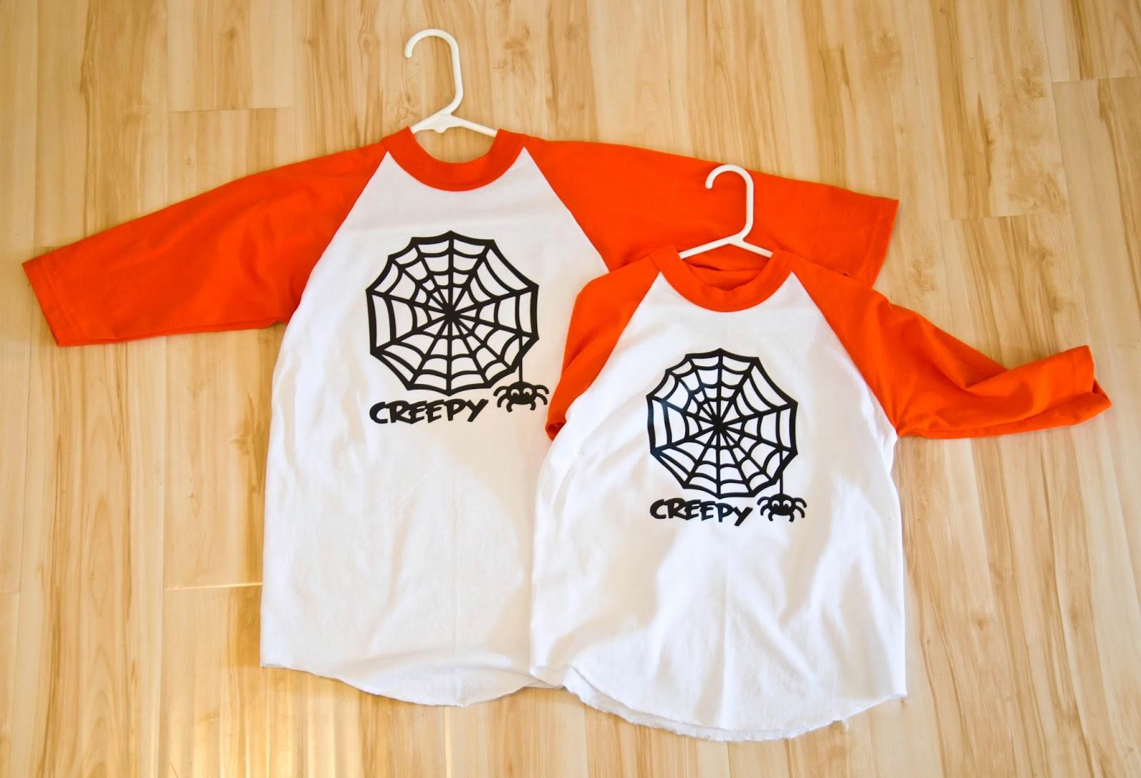custom boy's halloween shirt - cricut iron-on vinyl - housewives of