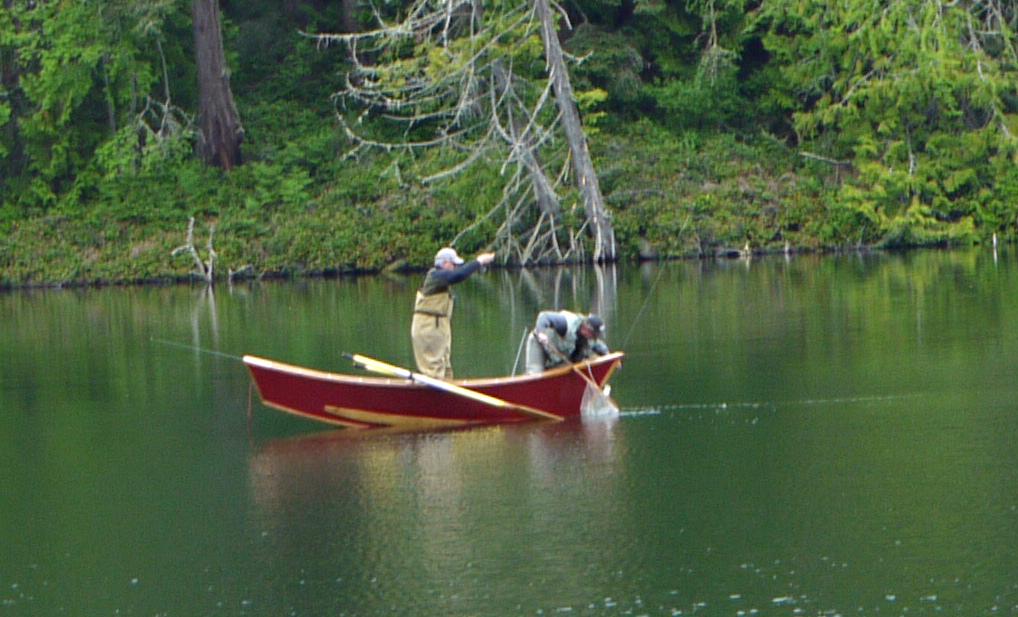 Robinwood Lake Fishing Landing a Fish in a Lake