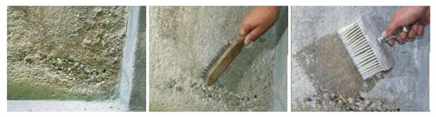Певичные действия по подготовке осыпающейся стены к шпаклевке