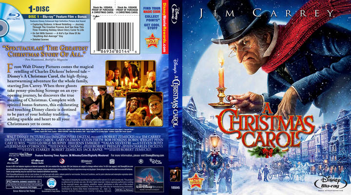 DVD Cover A Christmas Carol 2009 animatedfilmreviews.blogspot.com