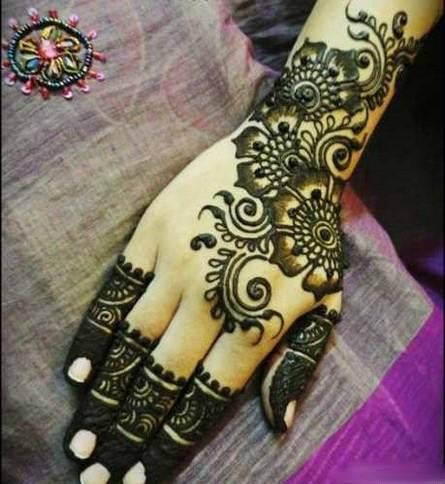Traditional mehndi designs for hands 2012 blondelacquer for Simple arabic mehndi designs for beginners home