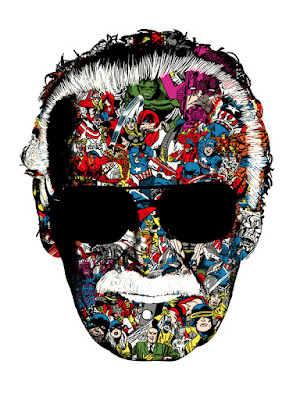 "Stan Lee ""Man of Many Faces"" Standard Edition Screen Print by Raid71"