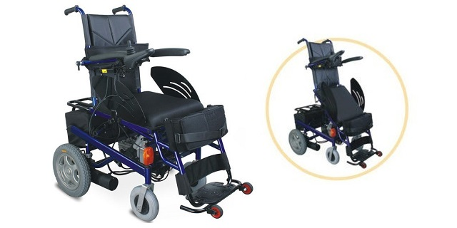 Electric wheelchair to stand up