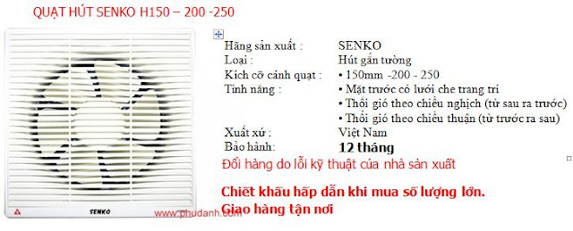 Quat hut senko H150