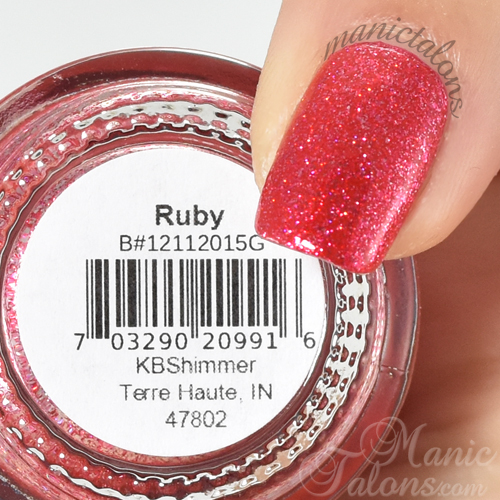 KBShimmer Ruby Swatch