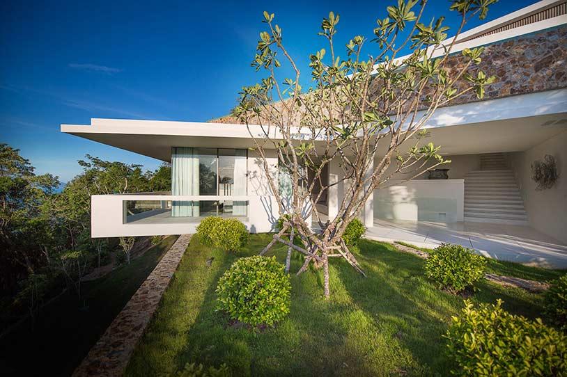 World of architecture hilltop modern villas amazing for Luxury retreats koh samui