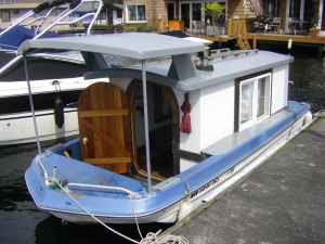 Relaxshackscom The Worlds Smallest Houseboat For saleLake