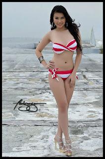 sexy barbie san miguel red bikini pics 05