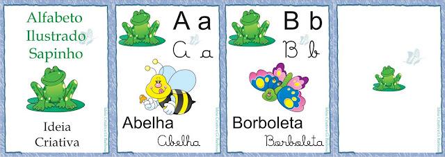 Alfabeto Ilustrado Sapinhos