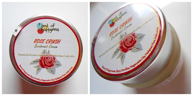 Burst of Happyness Rose Crush Cream Deodorant Review Details