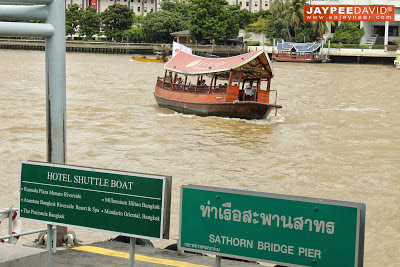 Bangkok, Thailand, BKK, Peninsula Hotel, boat shuttle