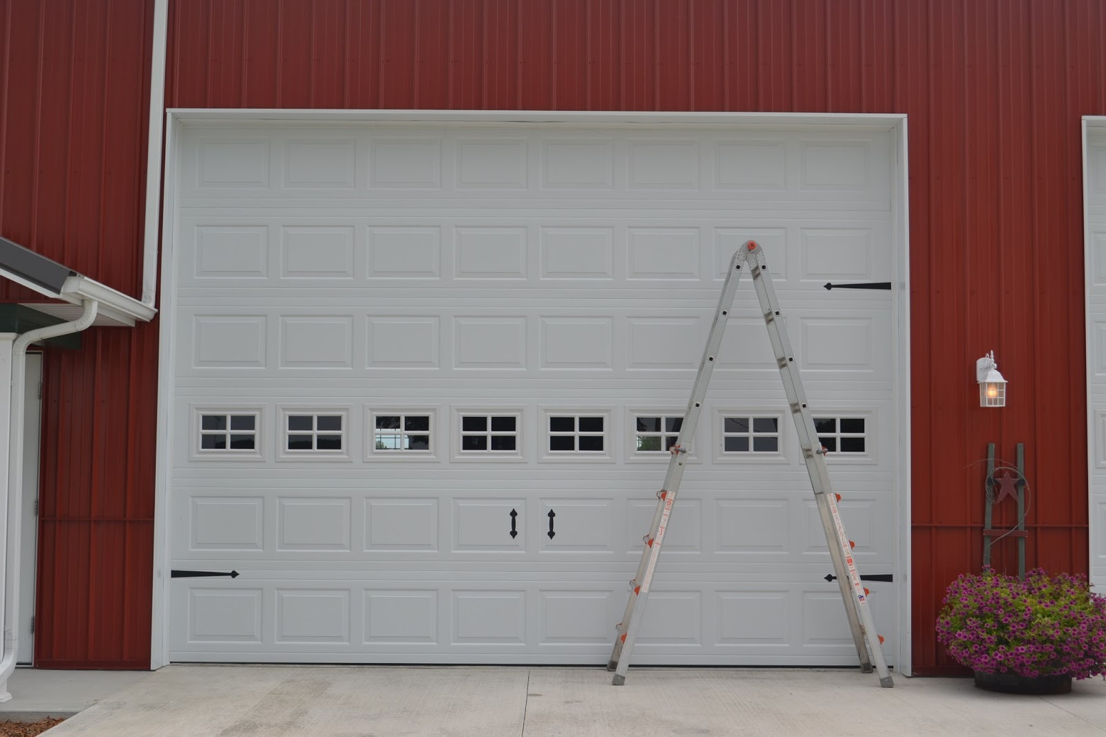 Old Blue Silo Garage Doors To Carriage Doors