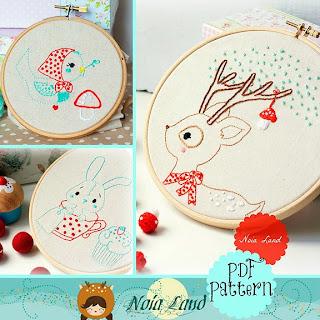 http://kitschydigitals.com/Deer-Bird-Bunny-Embroidery-Pattern-SKU179311.html