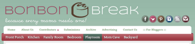 Sample Header of Bonbon Break: on STEMmom.org