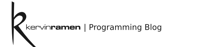 Kervin Ramen | Programming Blog