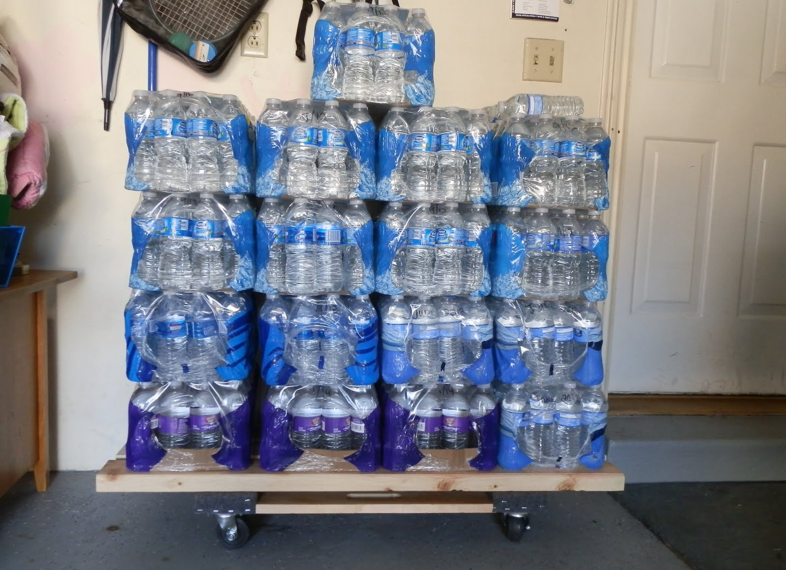 & Prepared LDS Family: Store Bottled Water Off The Floor on A Dolly
