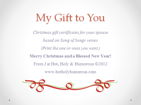 Gift certificate intro