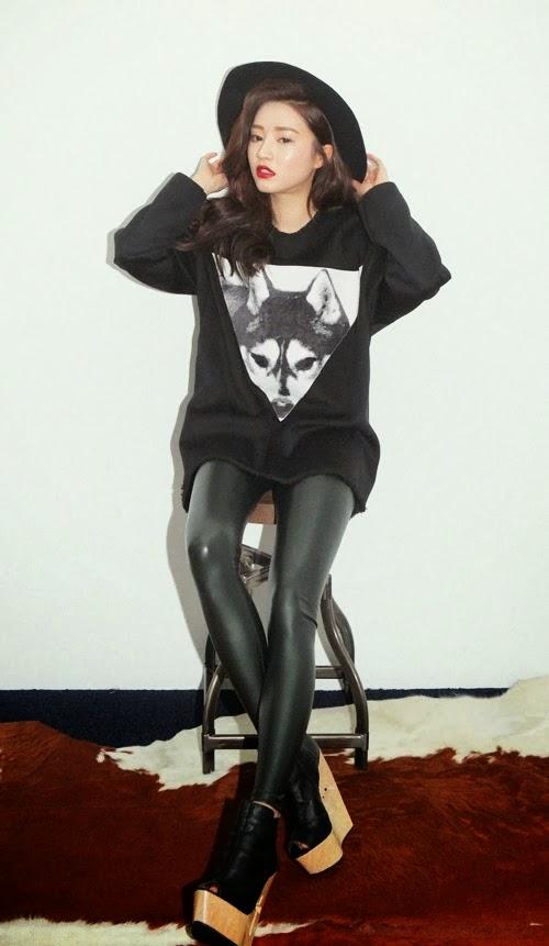 Korean Fashion - Sleek Leather Leggings