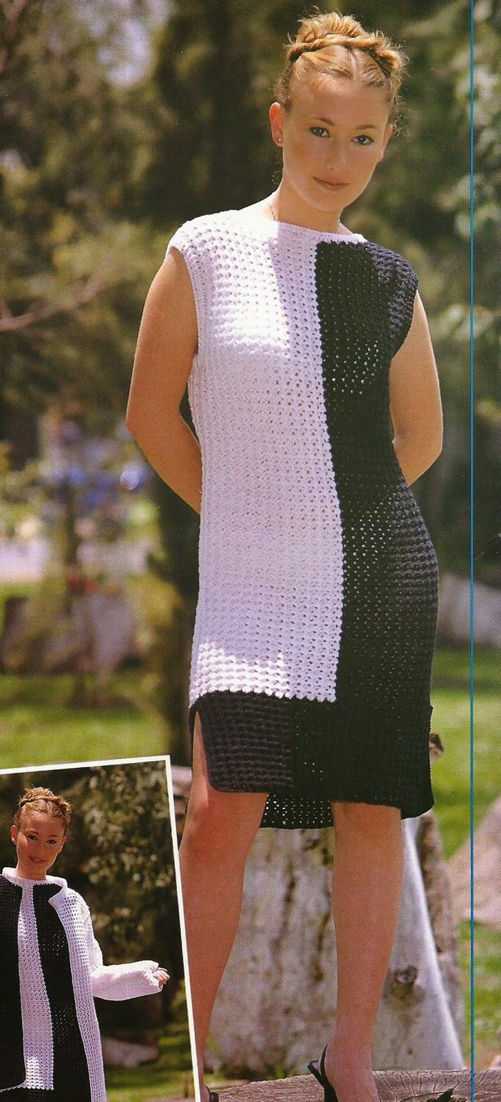 Vestido y Chaqueta a Crochet