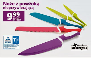 Noże z powłoką nieprzywierającą z Biedronki