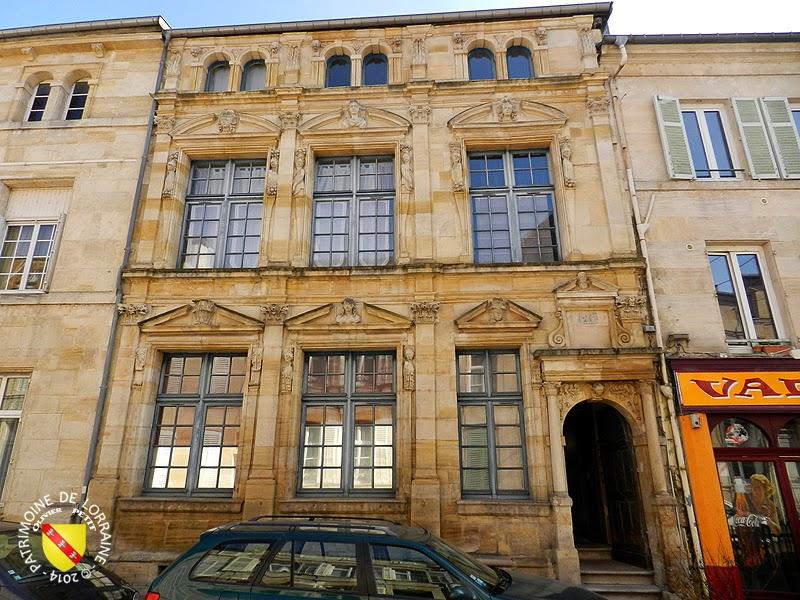 Patrimoine de lorraine bar le duc 55 maison des deux barbeaux 1618 for Construction maison bar le duc