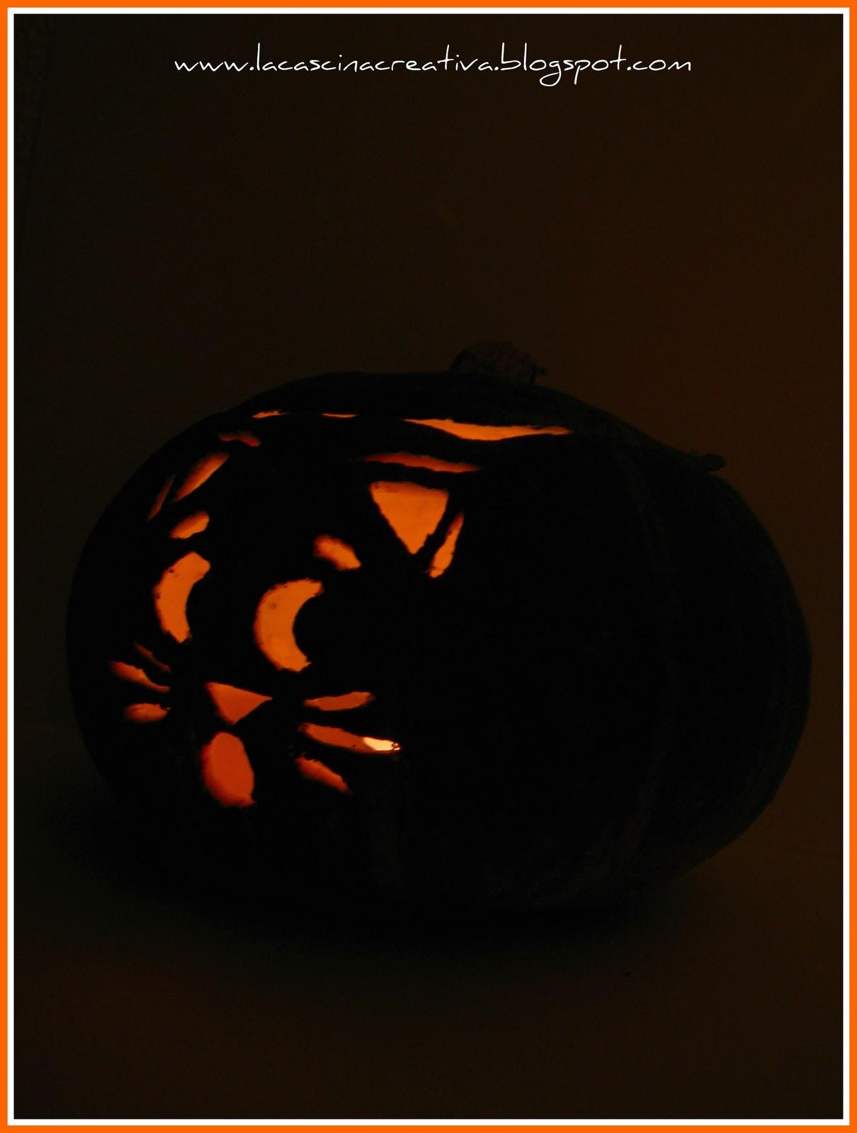 La cascina creativa jack o 39 lantern for Zucca halloween luminosa