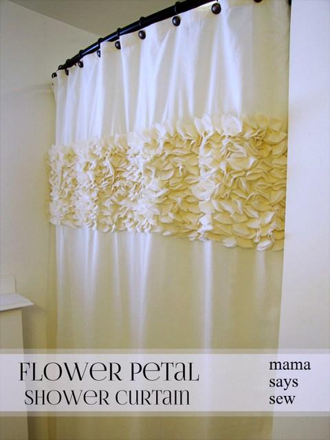 Curtains Ideas anthropology shower curtain : mama says sew: Flower Petal Shower Curtain
