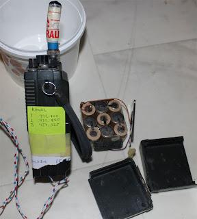 Här ses kanalernas frekvenser. Batteriets celler är slut och måste bytas.