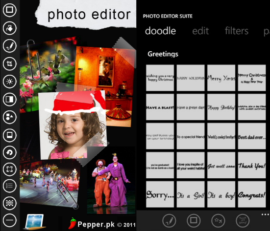 Photo Editor Suite App for Windows Phone 7