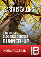 Runner-Up in Earth is Calling Contest by IndiBlogger