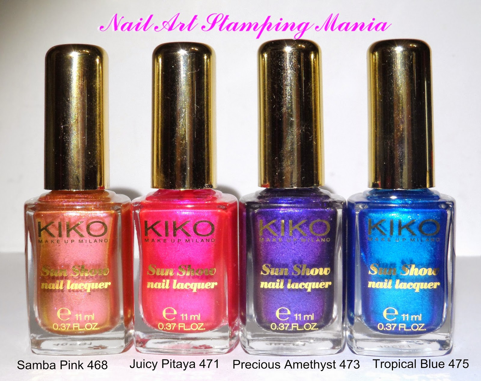 Nail Art Stamping Mania: Kiko SUN SHOW Nail Lacquer Review and Swatches