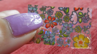 N.NAIL Pretty Lovely Flower Sea Hidden Patten Nail Foil Transfer