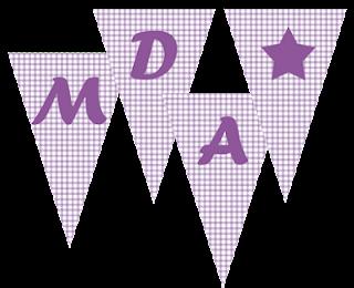 banderines para imprimir morado